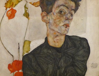 Egon Schiele Autoportrat au Coqueret 部分, 1912 Leopold Muséum , Vienne