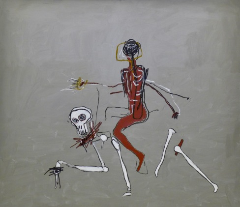 Jean-Michel BASQUIAT Riding with Death 1988 Collection particulière
