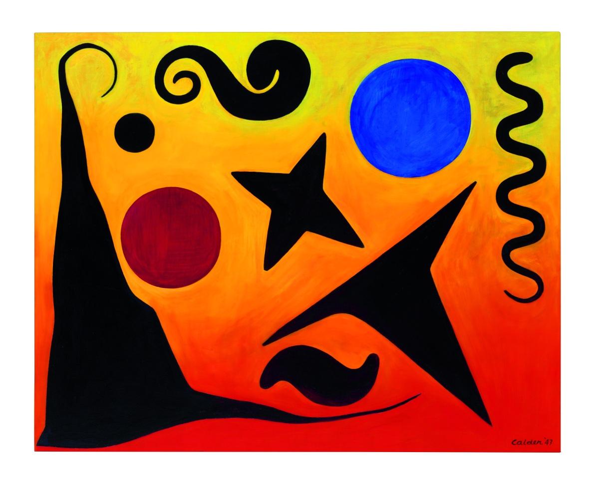 Alexander Calder Seven Black, Red and Blue [Sept noir, rouge et bleu] , 1947Alexander Calder Seven Black, Red and Blue [Sept noir, rouge et bleu] , 1947 2