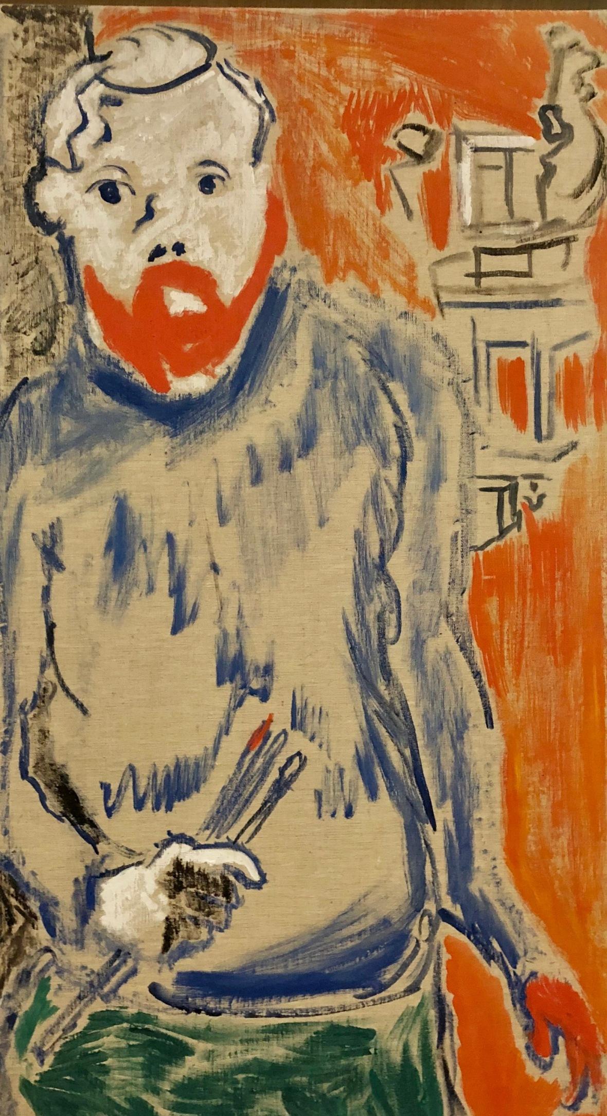 détail - Portrait d' Henri Matisse 1905 André Dorain