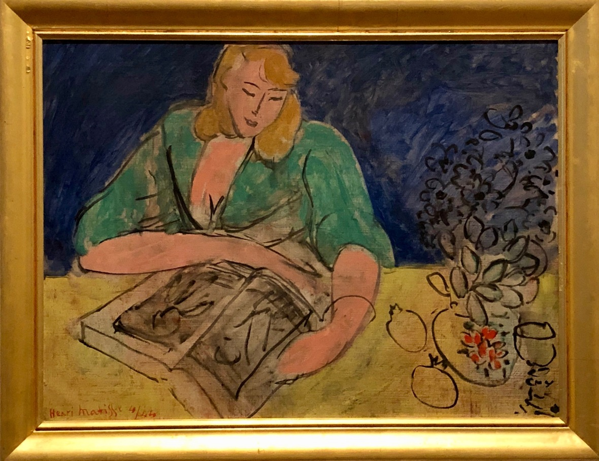 lectrice à la table jaune 1944