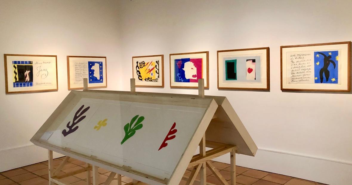salle du JAZZ au musée H Matisse